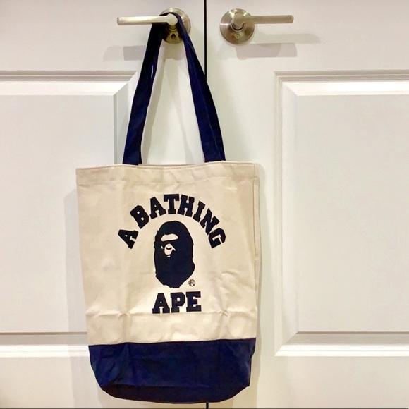 29bdf7d4ce61 New A Bathing Ape Bape Canvas Tote shoulder Bag